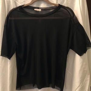 Urban outfitters mesh boxy tshirt
